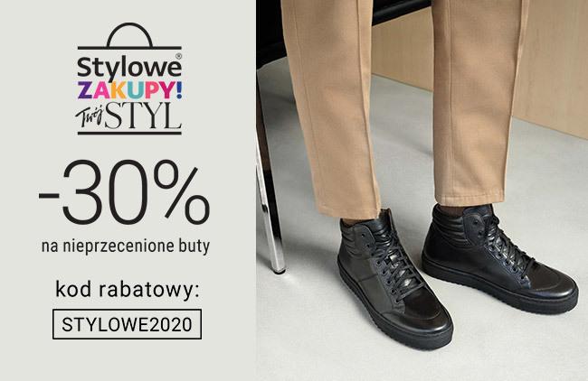Stylowe buty męskie -30%